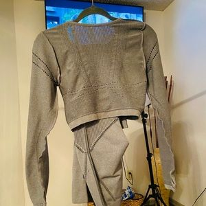 Grey Two Piece Athletic Set